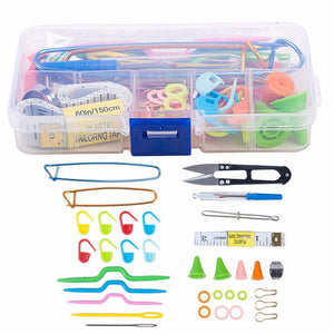 Useful Ful Knitting Tools Kit Crochet Needle Hook Accessories - Gaby.shop