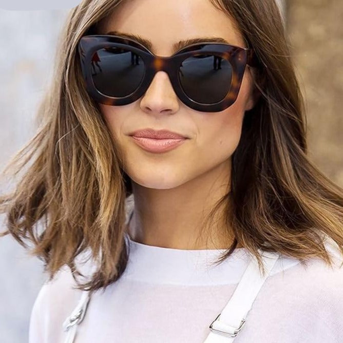 2020 Luxury Brand Designer 90s Tortoiseshell Cat eye Sunglasses - Gaby.shop