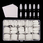 600 pcs/box false nails fake nails fix double-sided adhesive Full Cover Fake Nail - Gaby.shop