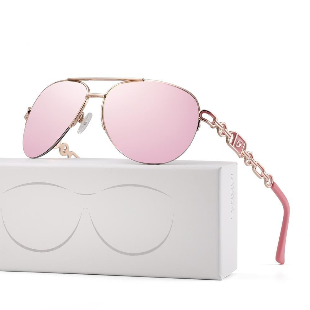 Cat eye designer trendy brand vintage pink mirror sunglasses for ladies - Gaby.shop