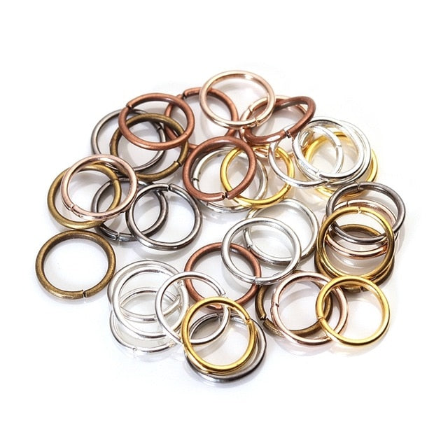 200pcs/lot 4 6 8 10 mm Metal Jump Rings Silver/Gold/Bronze Color Split Rings Connectors For Diy Jewelry Finding Making