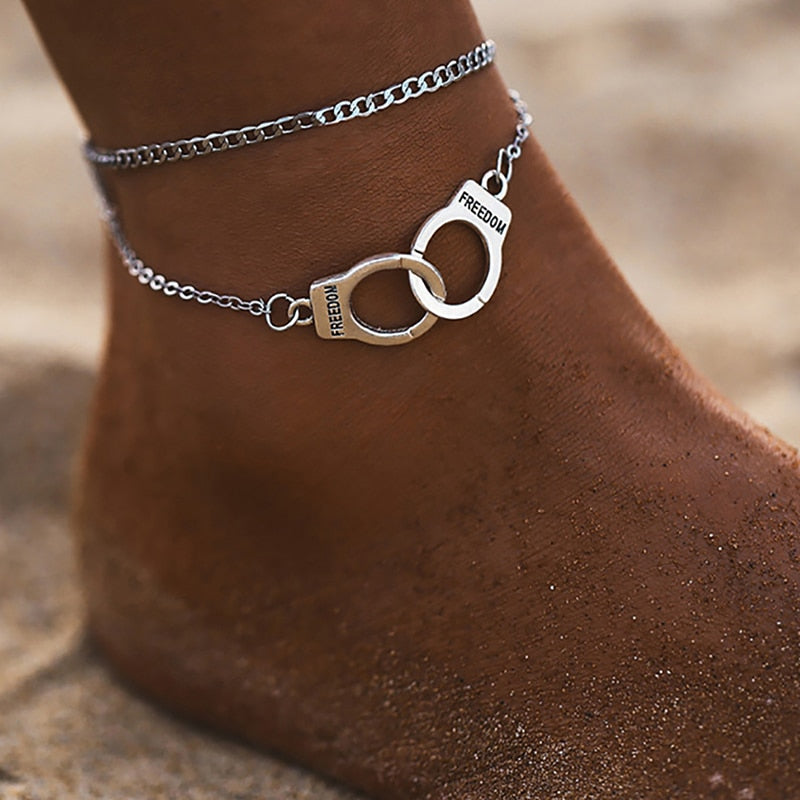 Star Anklet Fashion Multilayer Foot Chain 2020 Fashion Handcuffs Ankle Bracelet For Women - Gaby.shop