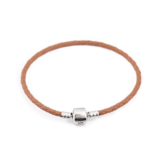 Leather Charm Bracelet For Women Fit Original Charm Beads DIY Brand Design Bracelet