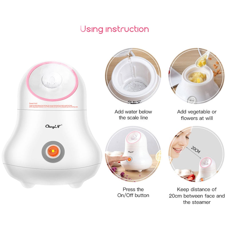 Nano Ionic Facial Steamer Lady Face Sprayer Humidifier Personal Sauna Spa Steaming Tool Beauty Moisturizer Open Pore Skin Care