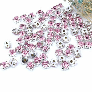 4mm 21 colors Crystal Glass Round Sew-on Rhinestones silver Bottom crystal sewing diy/jewelry/wedding decoration 200pcs/piece