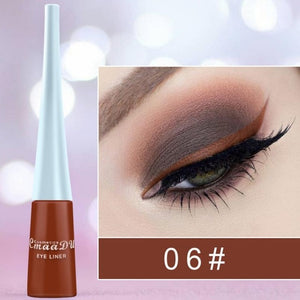 12 Colors Liquid Matte Eyeliner Pencil Quick Dry Waterproof Eye Liner Pencil Brown Purple Color Eyeliner Cosmetic Tool