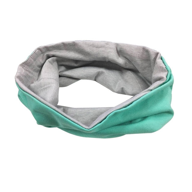 Solid Wide Patchwork Cotton Sports Headband For Women - Gaby.shop
