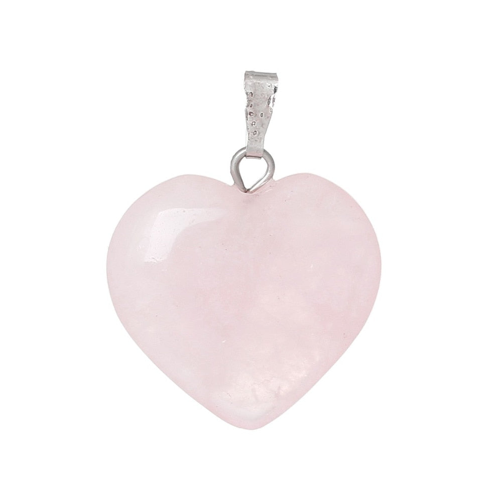 Rose Heart  Stone Charm Pendants - Gaby.shop