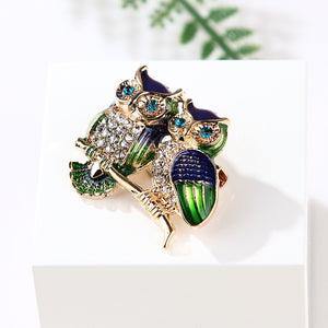 Couple Owl Brooch for Women Men collar jewelry pins - Gaby.shop