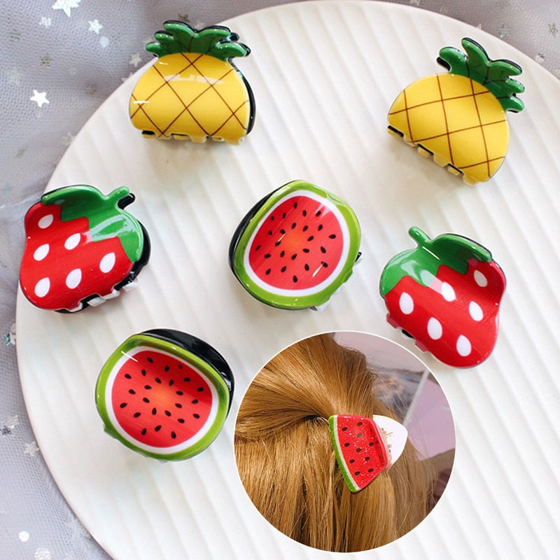 Cute Fruit Shape Little Hair Claws - Gaby.shop