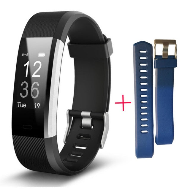 H115HR PLUS GPS Smart Bracelet Heart Rate Monitor Fitness Tracker Step Counter Activity Band Alarm Clock pk fitbits