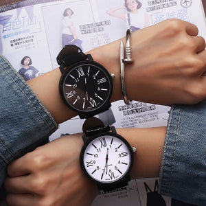 Female Quartz Clock Waterproof Roman Numerals Women Bracelet Watch - Gaby.shop
