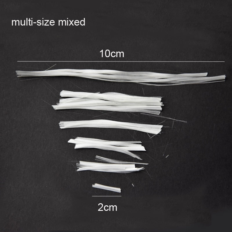 10g 2cm to 10cm Fiberglass for Nail Extension Fibernails Acrylic Tips Manicure Salon Tool Curvature Clips Silk Wraps - Gaby.shop