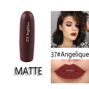 Matte Waterproof Nutritious  25 Colors Easy to Wear Long Lasting Lipstick - Gaby.shop