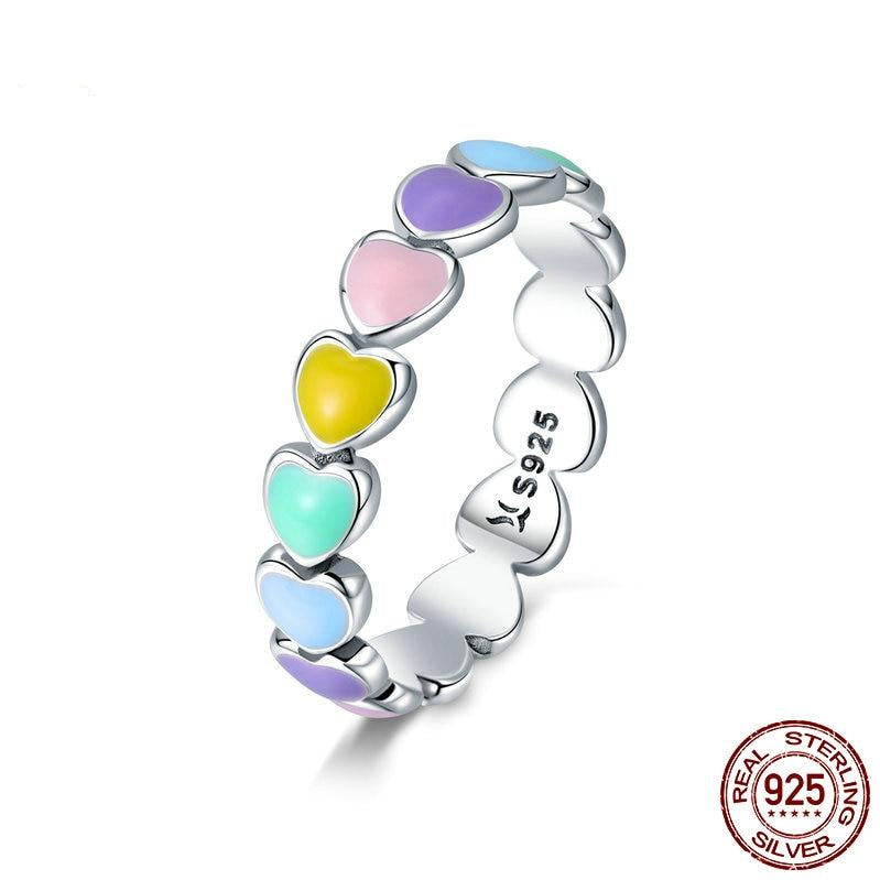 Rainbow Heart Ring - Gaby.shop