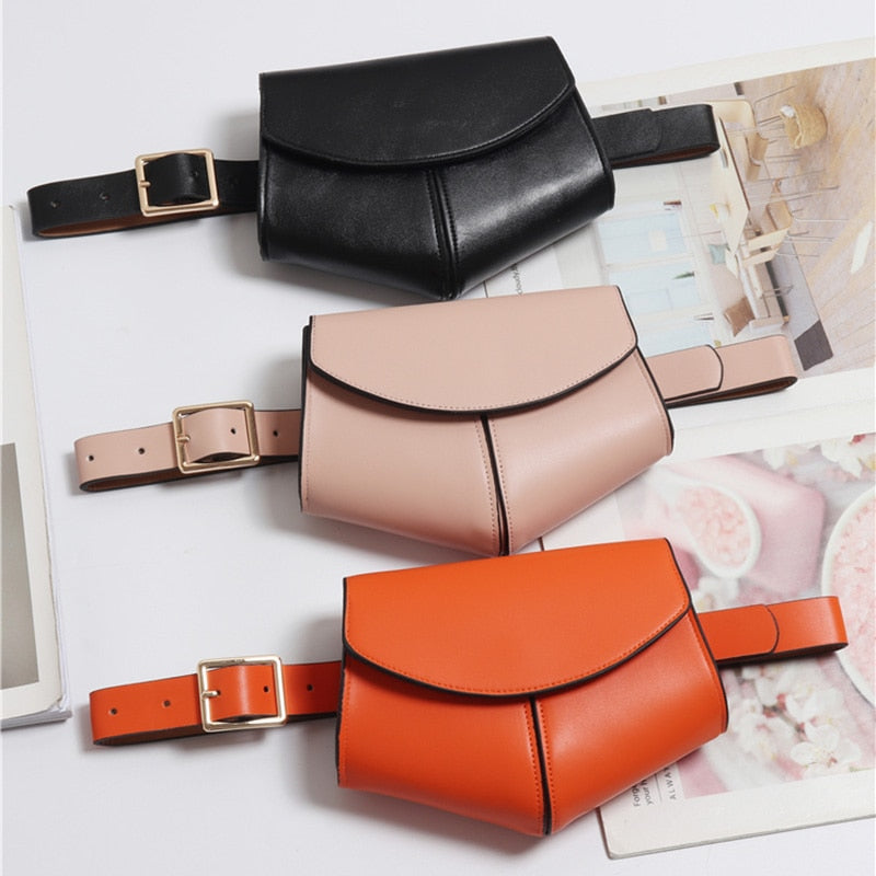 Women Mini Waist Belt Leather Bag - Gaby.shop
