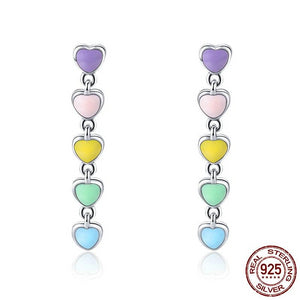 Rainbow Heart Earrings - Gaby.shop