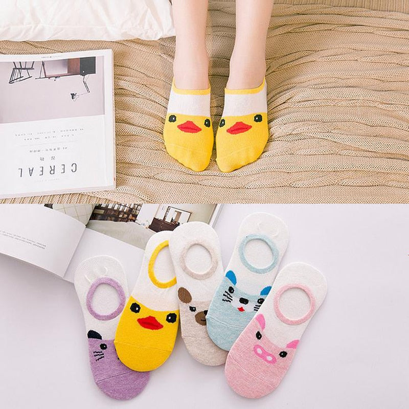 cute cartoon boat cotton socks - Gaby.shop