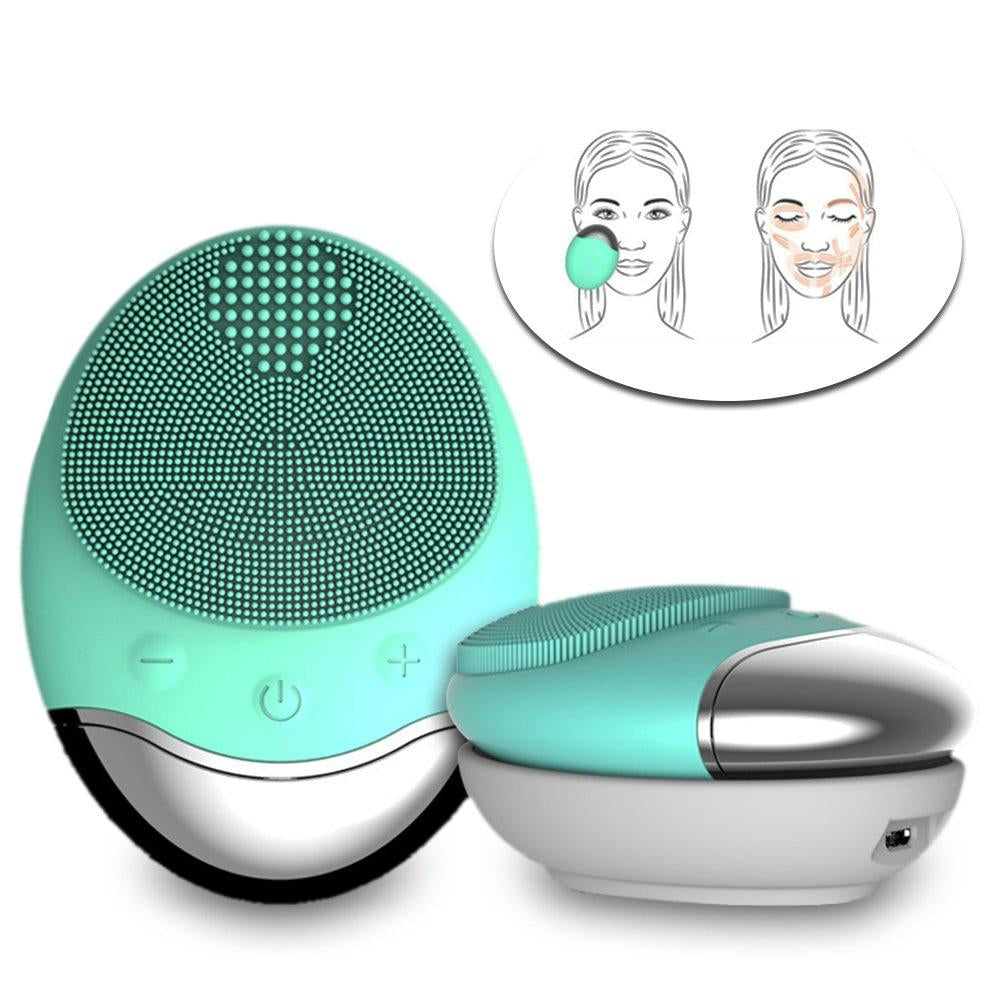 Wireless Charging Electric Silicone Face  Vibrating Massager for Removing Skin's Oil Blackheads Cosmetic - Gaby.shop