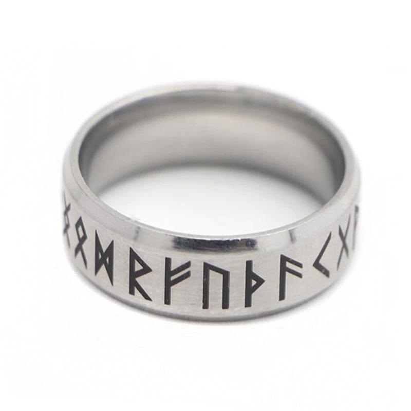Punk Fashion Style Antique Retro Unisex Jewelry Viking Ring Female Black Amulet Vintage Norse Rune Rings - Gaby.shop