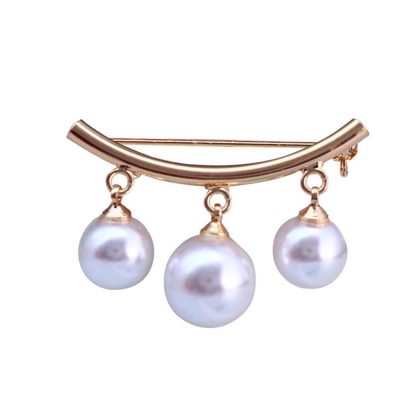Korean Simple Pearl  Brooch Women's Accessories  jewelry - Gaby.shop