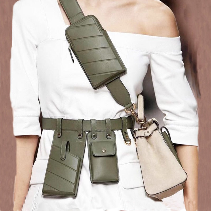 Leather Waist Belt Bag - Gaby.shop