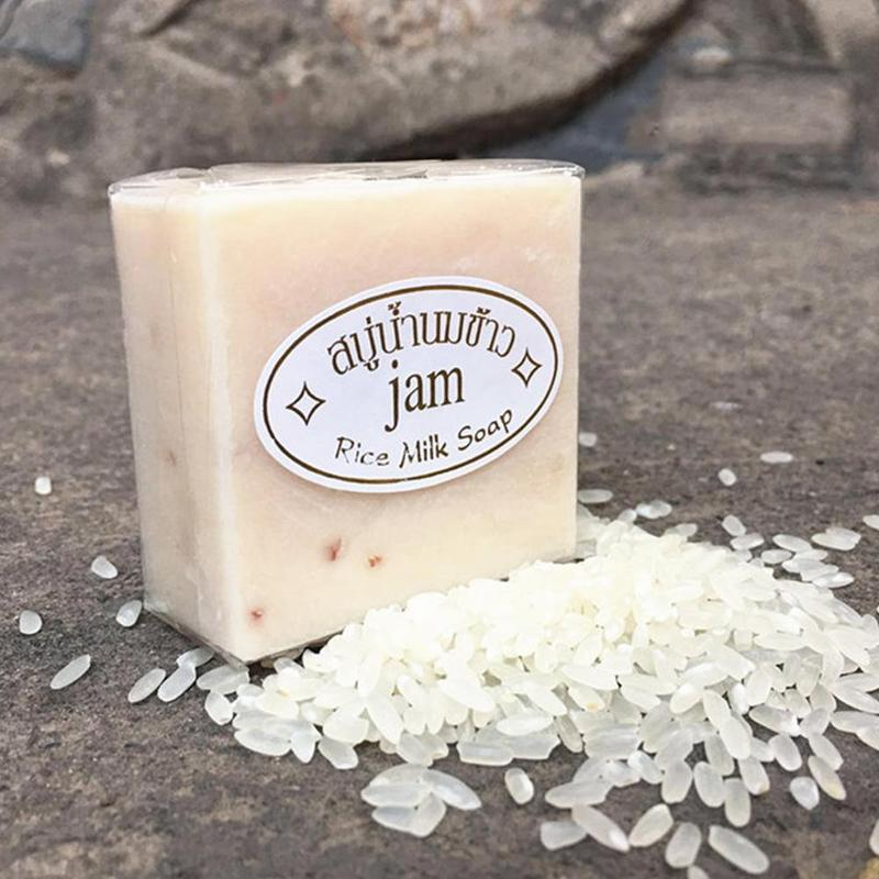 Hand Soap Thailand Jasmine Rice Handmade Collagen Vitamin Skin Whitening Bathing Tool Rice Milk Soap Bleaching Agents Acne Soap - Gaby.shop