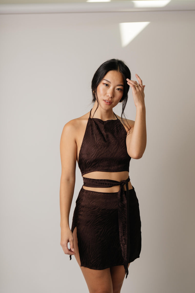 Shenka Skirt // Chocolate Zebra