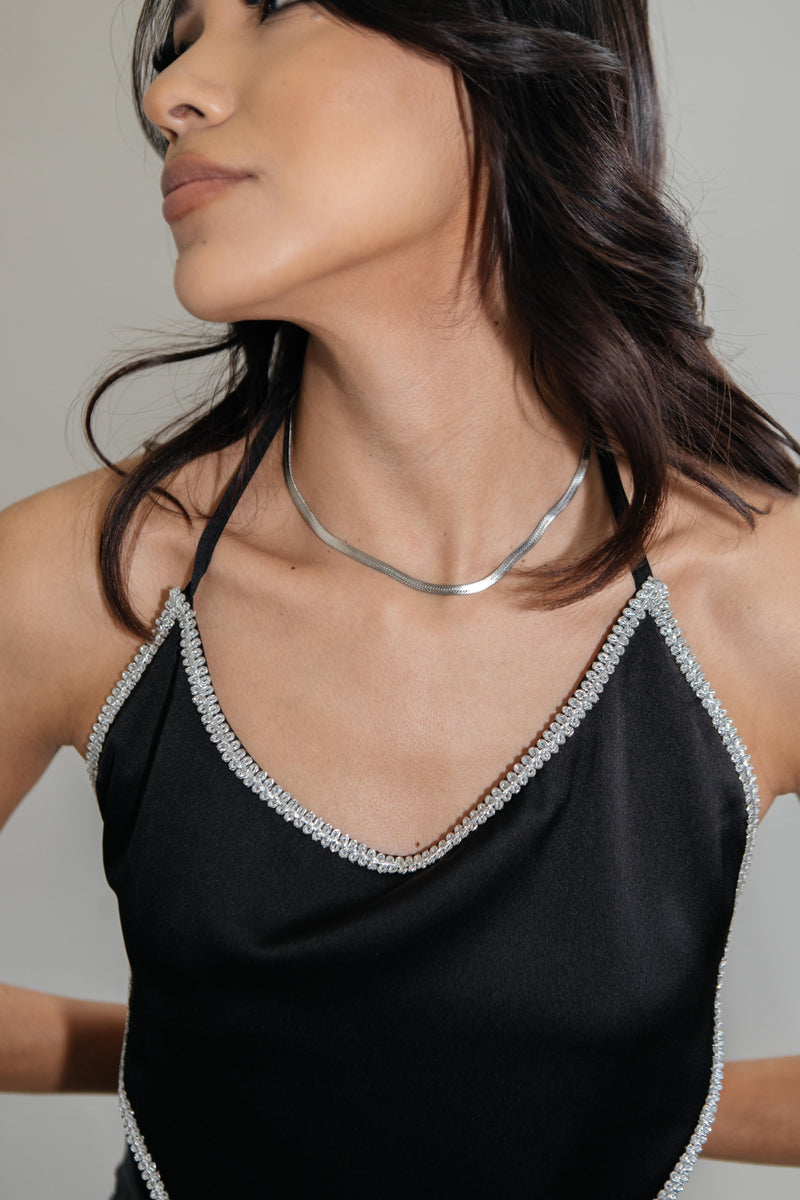 On A Dime Herringbone Necklace