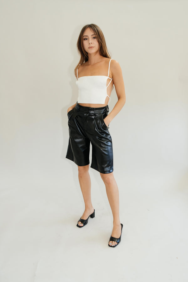Beatrice Leather Shorts