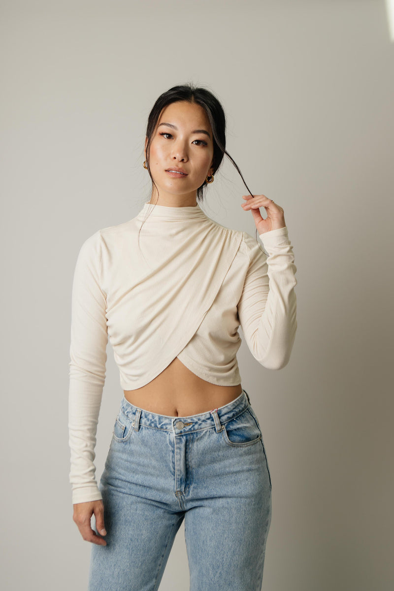 Versailles Draped Top // Cream