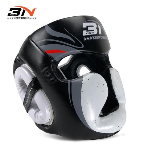 Casque de protection - 3N - Noir et Blanc - Fight - Boxeuse.com