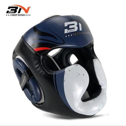 Casque de protection - 3N - Bleu et Blanc - Fight - Boxeuse.com