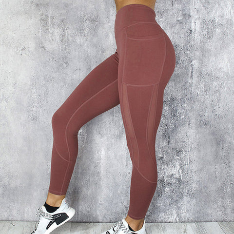 Legging - Fitness - Bordeaux
