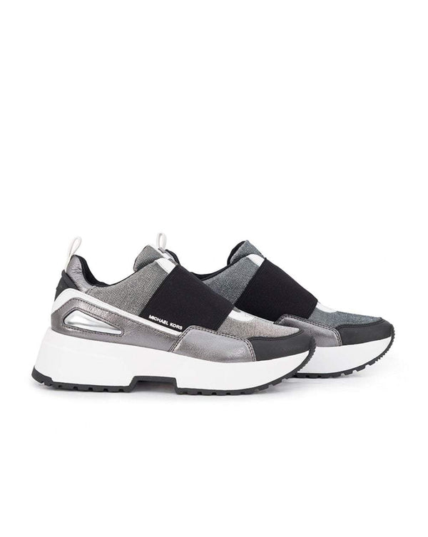 Cosmo Metallic Wedged Trainers