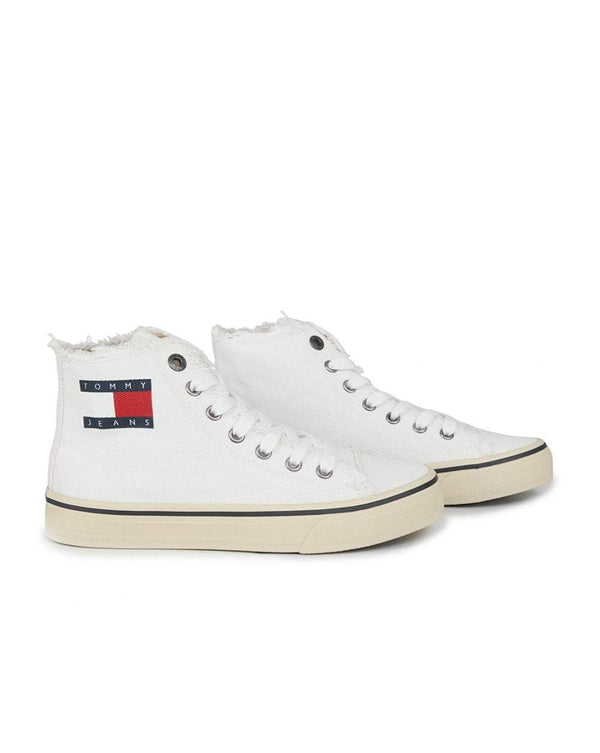 Tommy Hilger Hightop Flag Logo Sneakers