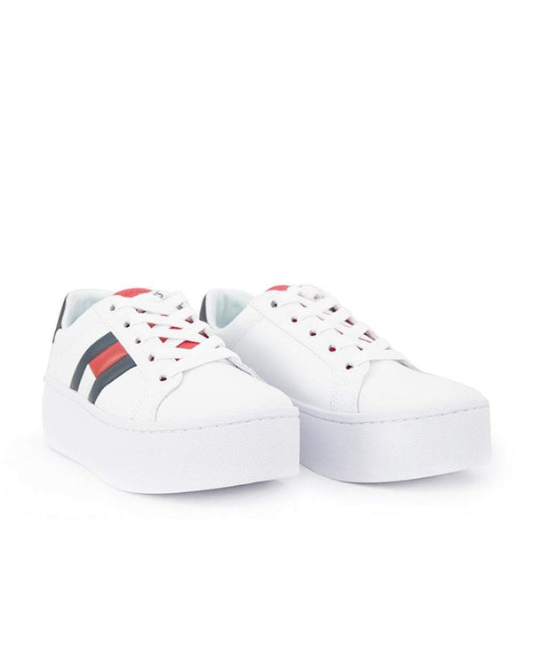 Tommy Icon Flag Logo Platform Sneakers