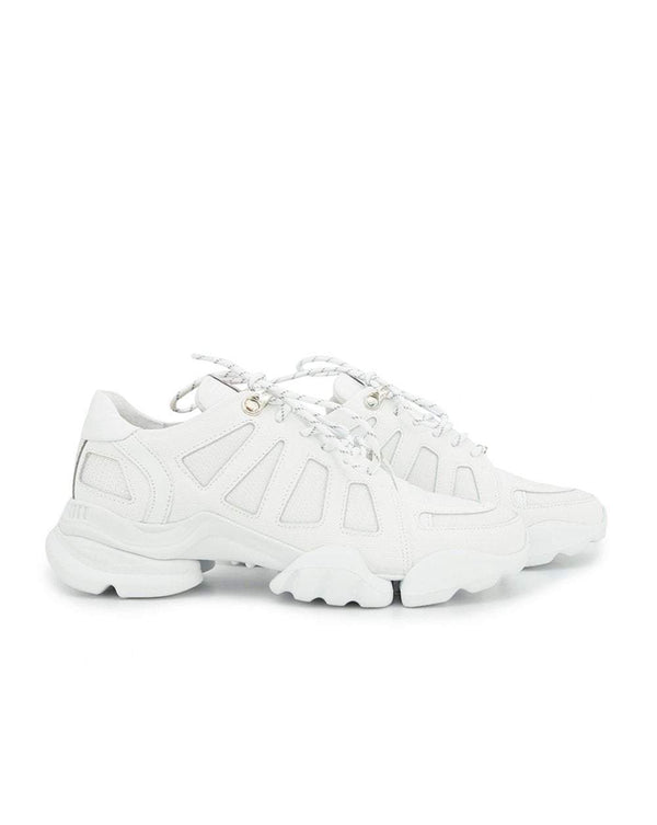 White Leather Chunky Trainers