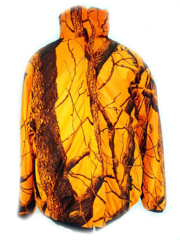Blaze Orange Camo Reversible Fleece
