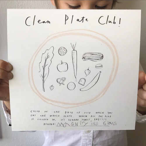 DOWNLOADABLE: MEALTIME POLICY & CLEAN PLATE CLUB ART PRINT BUNDLE