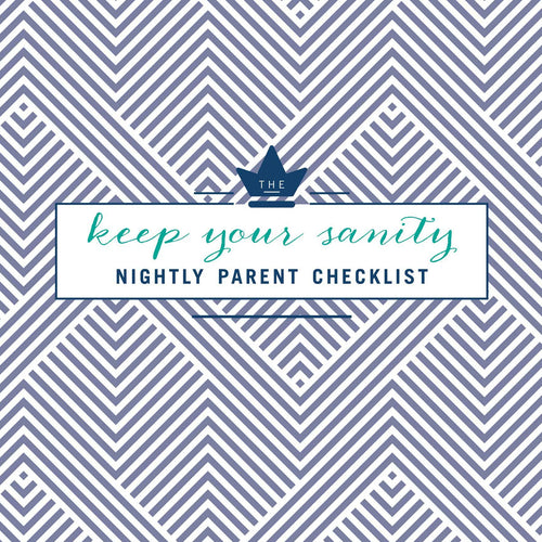 DOWNLOADABLE: PARENT NIGHTLY CHECKLIST
