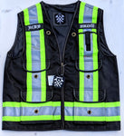 Premium Black Hi-Vis Safety Vest