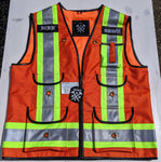 Premium Orange Hi-Vis Safety Vest