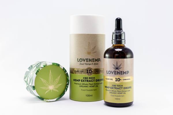 LOVE HEMP 10,000mg (10%) CBD HEMP OIL 100ml