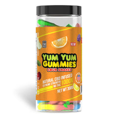 YUM YUM CBD GUMMIES - SOUR SNAKES - FULL SPECTRUM CBD