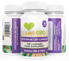 LOVE CBD - 1200mg ENTOURAGE CBD CAPSULES - 60 x 20mg CAPSULES