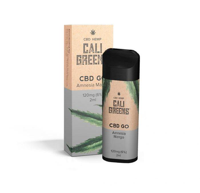 CALI GREENS 120mg (6%) AMNESIA MANGO DISPOSABLE CBD VAPE PEN