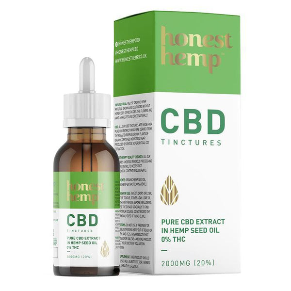 HONEST HEMP CBD OIL 2000mg MCT OIL10ml