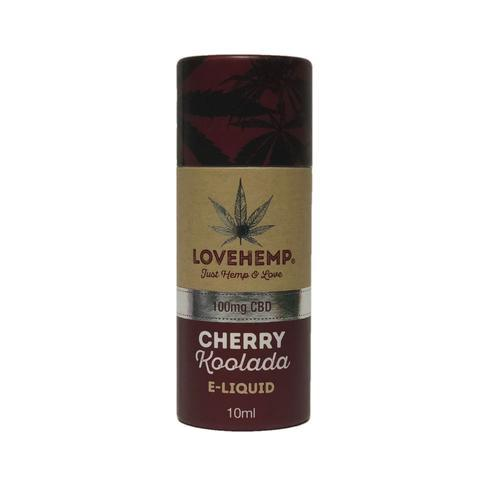 LOVE HEMP - 100mg CBD E-LIQUID - CHERRY KOOLADA 10ml