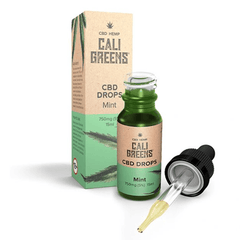 CALI GREENS - MINT FLAVOUR 750mg CBD OIL ORAL DROPS 15ml